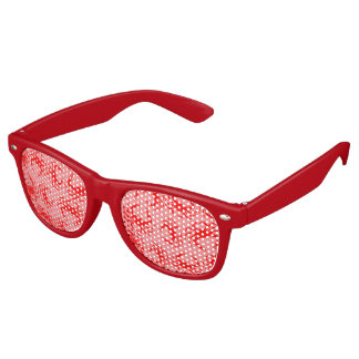 Red Crabs Retro Sunglasses