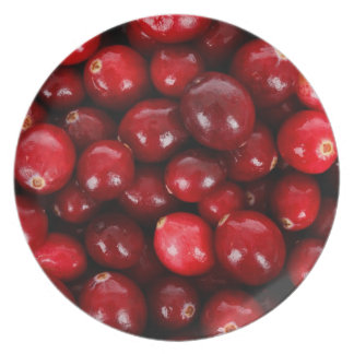 red cranberry plate
