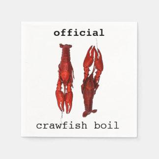 Red crawfish - crawfish boil paper napkins