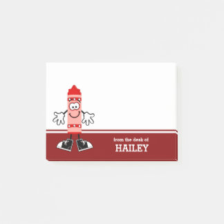 Red Crayon Personalized Post-it Notes