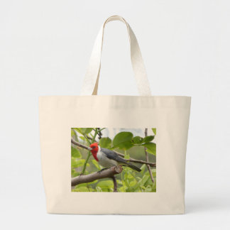 Red-crested Cardinal Large Tote Bag