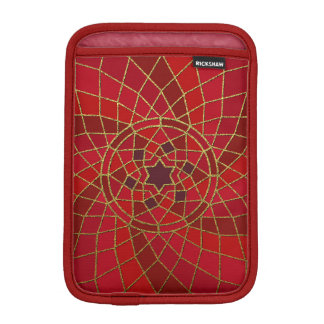 red crimson chilli bean Chilli Bean Swirl Mandala iPad Mini Sleeves