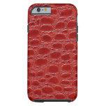 Red Crocodile Look iPhone 6 Case