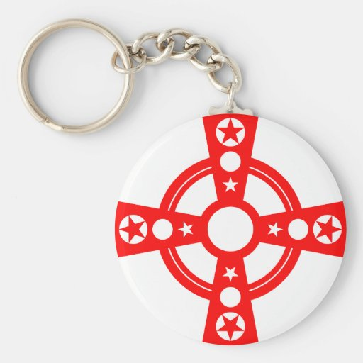 Red Cross and Stars Keychains