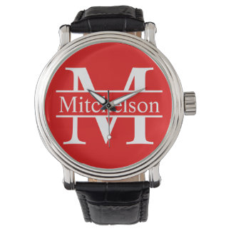 Red Cross Bar LR Monogram Watch