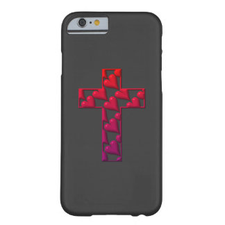 Red Cross filled with hearts Barely There iPhone 6 Case
