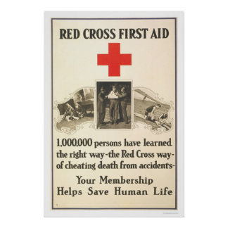 Red Cross First Aid Poster