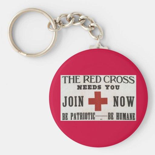 Red Cross Keychain