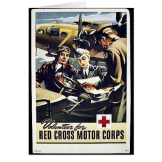 Red Cross Motor Corps Card