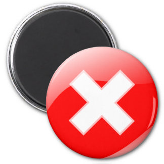 Red Cross No X Incorrect Symbol Magnet