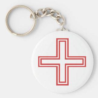 Red Cross Original design! Basic Round Button Keychain