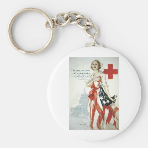 Red Cross Poster - I Summon You! Key Chains