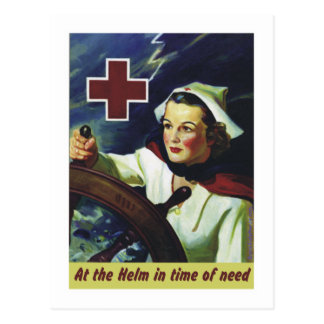 Red Cross Poster - Nurse at the Helm Postcards