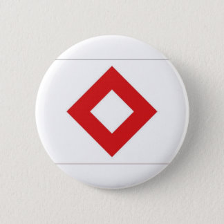 Red Cross Red Crystal Flag 2 Inch Round Button