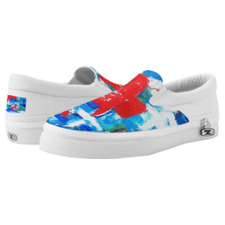 Red Cross Unisex Slip On Sneakers