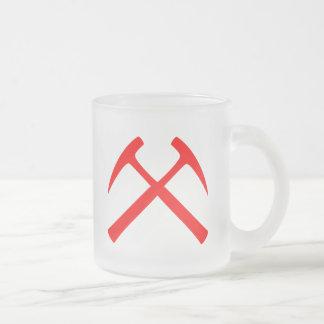 Red Crossed Rock Hammers Mug