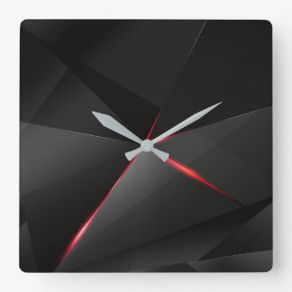 Red crow square wall clock