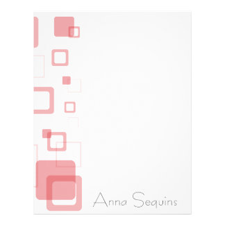 Red Cubes Letterhead Template