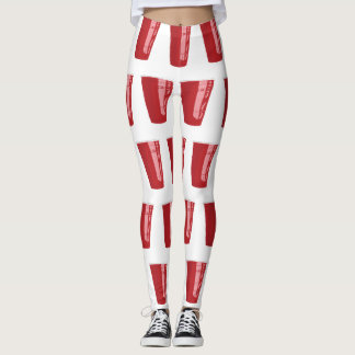 Red Cup Beer Pong Leggings