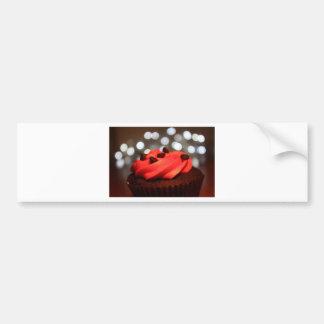 Red Cupcake Delight Bumper Sticker
