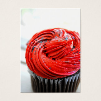 Red Cupcake Photograph Business Cards