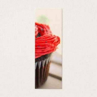 Red Cupcake Photograph Mini Bookmarks Mini Business Card