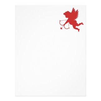 Red Cupid Silhouette Letterhead