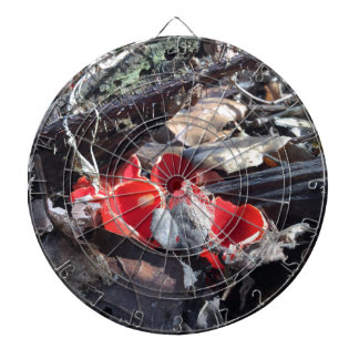Red Cups and Leaves Dartboard
