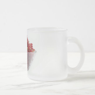 red currants frosted glass coffee mug
