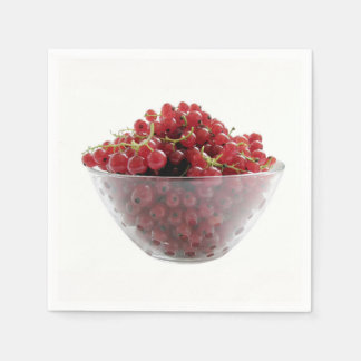 red currants paper napkin
