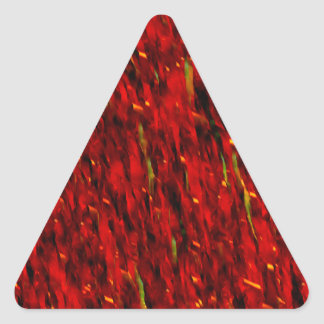 Red Curtain Abstract Triangle Sticker