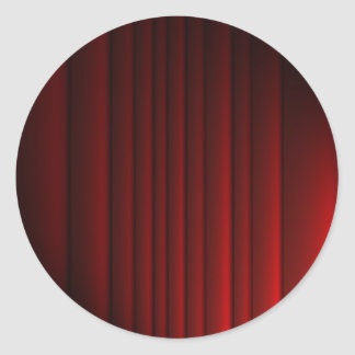 Red Curtain Classic Round Sticker