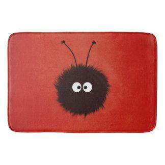 Red Cute Dazzled Bug Bathroom Mat