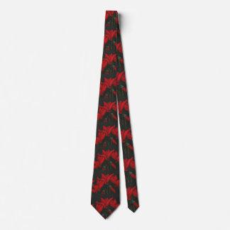 """Red Cyclaman"" Flower Garden Neck Tie"