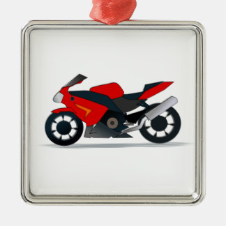 red cycle ornament