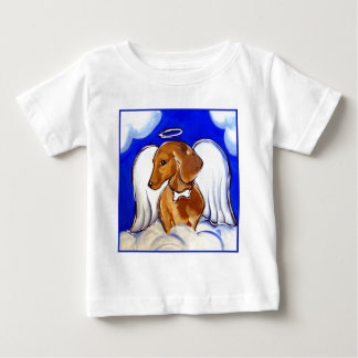 Red Dachshund Angel Baby T-Shirt