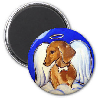 Red Dachshund Angel Magnet