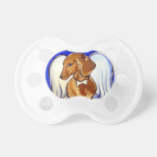 Red Dachshund Angel Pacifier