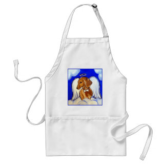 Red Dachshund Angel Standard Apron