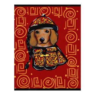 Red Dachshund Dog of the Year Letterhead
