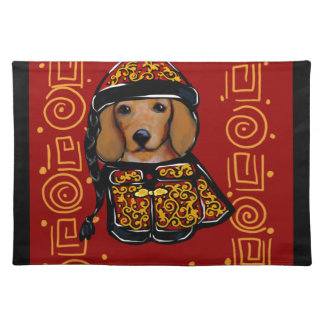 Red Dachshund Dog of the Year Placemat