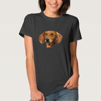 Red Dachshund Dog Portrait Tshirts