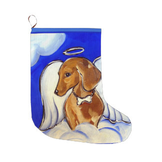 Red Dachshund Large Christmas Stocking
