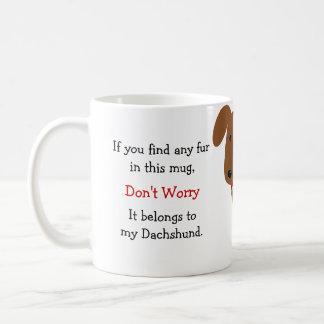 Red Dachshund Owner Humor Coffee Mug