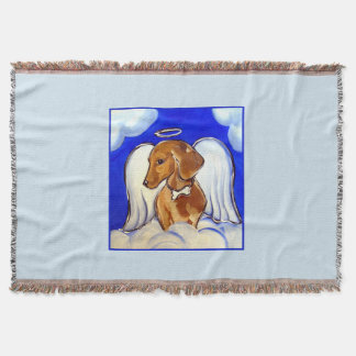 Red Dachshund Throw Blanket
