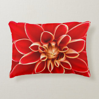 Red Dahlia Accent Pillow