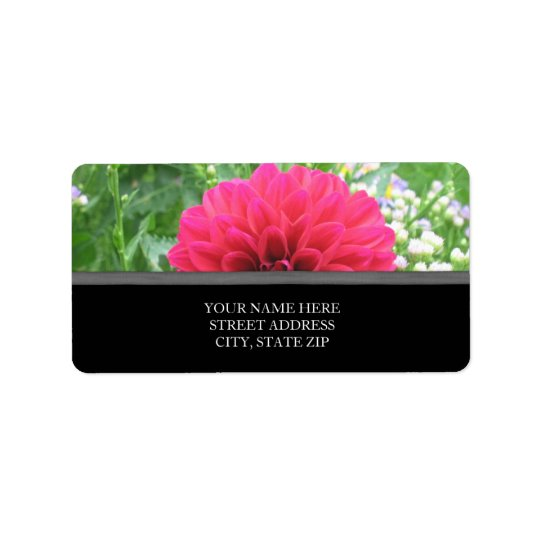 Red Dahlia Address Labels