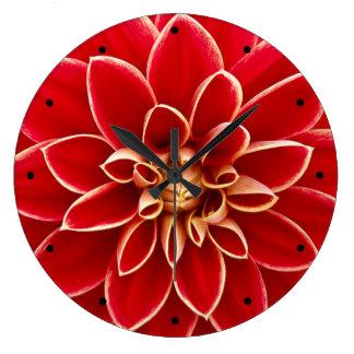 Red Dahlia Clock
