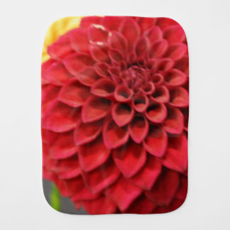 Red Dahlia Flower Burp Cloths