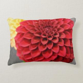 Red Dahlia Flower Decorative Pillow